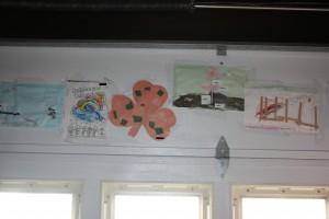 Hang Kid Art on back of Garage Door