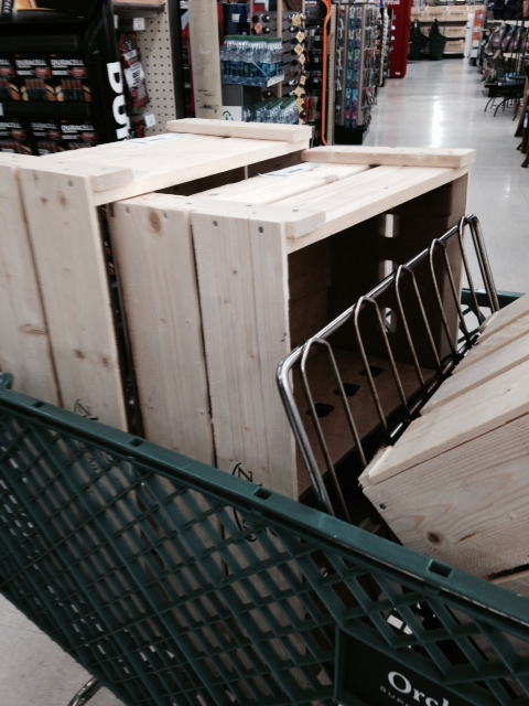 wooden crates from Orchard